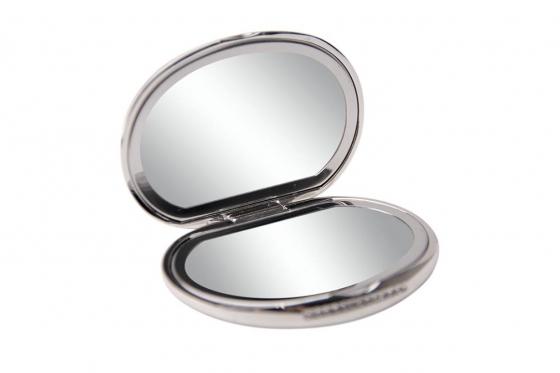 Taschenspiegel Kristall - personalisierbar, versilbert 1