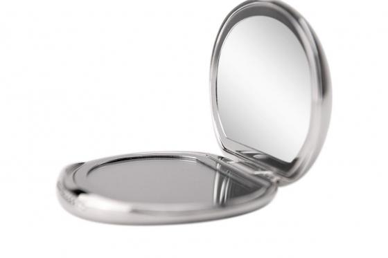 Taschenspiegel Kristall - personalisierbar, versilbert 2