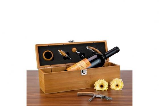 Wein-Set in Bambuskiste - Personalisierbar