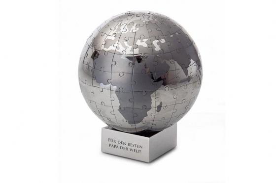 Puzzle Globe 164 pièces - personnalisable avec gravure