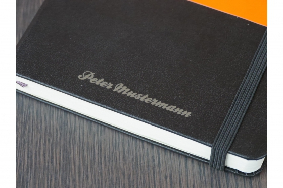 Moleskine Notizbuch - Mit Namensgravur 1