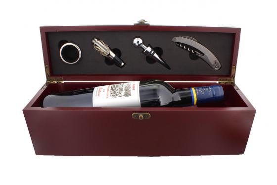 Wein Accessoire Set - Bordeaux, personalisierbar