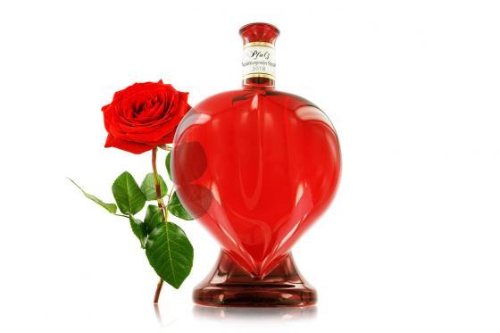 Rosé en bouteille en coeur - Personnalisable 2