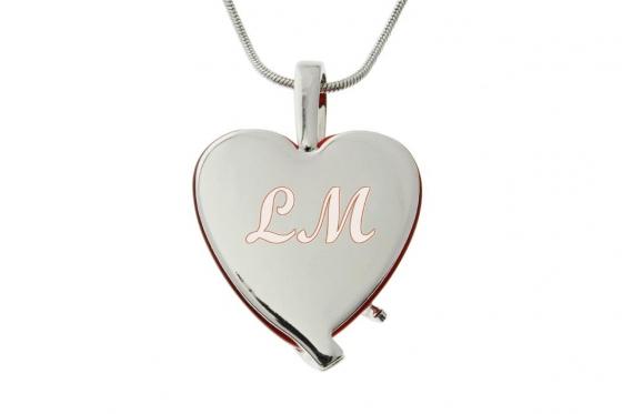 Pendentif coeur - avec 4 cristaux Swarovski 1