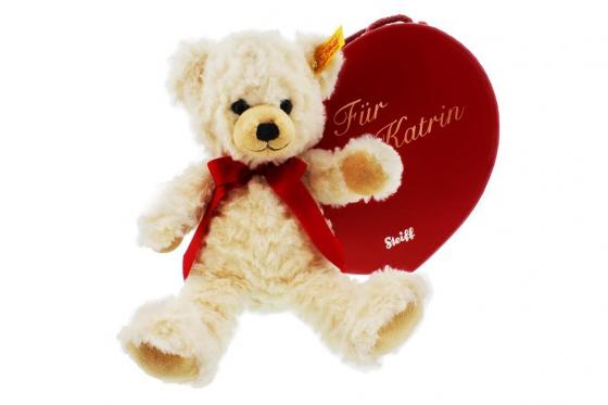 Peluche Teddy - et boîte en forme de cœur