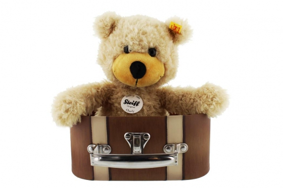 Steiff Teddy  - im Reisekoffer - personalisierbar
