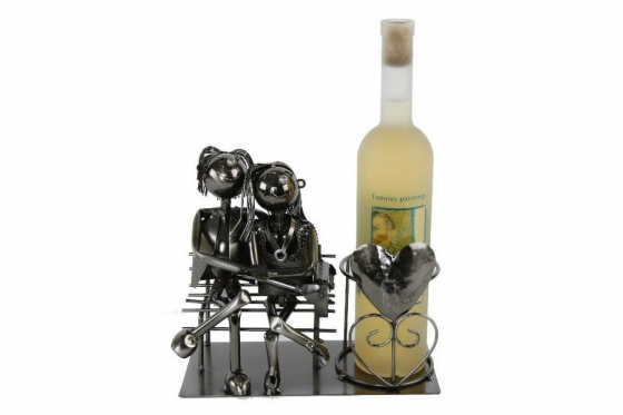 Weinflaschenhalter - Liebespaar