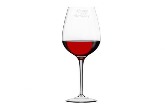 Rotweinglas - mit Gravur