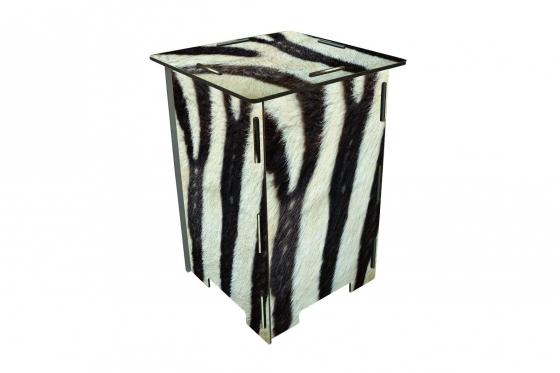 Tabouret pour photos - Zebra