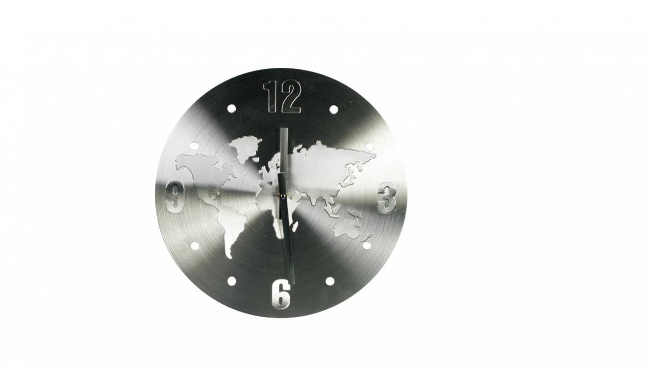 horloge murale en alu