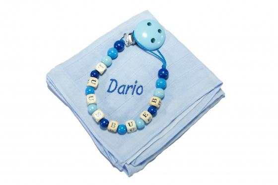 Patte pour bébé - avec attache-lolette / bleu