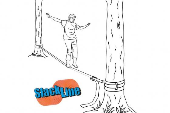 Slackline Set  - Halten Sie die Balance? 1
