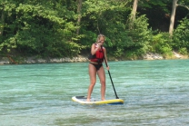 SUP Stand Up Paddling - auf der Aare