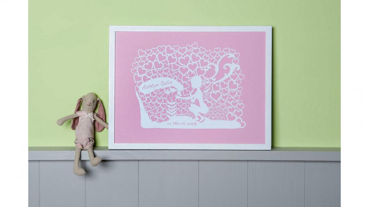 tableau mural f e rose. Black Bedroom Furniture Sets. Home Design Ideas