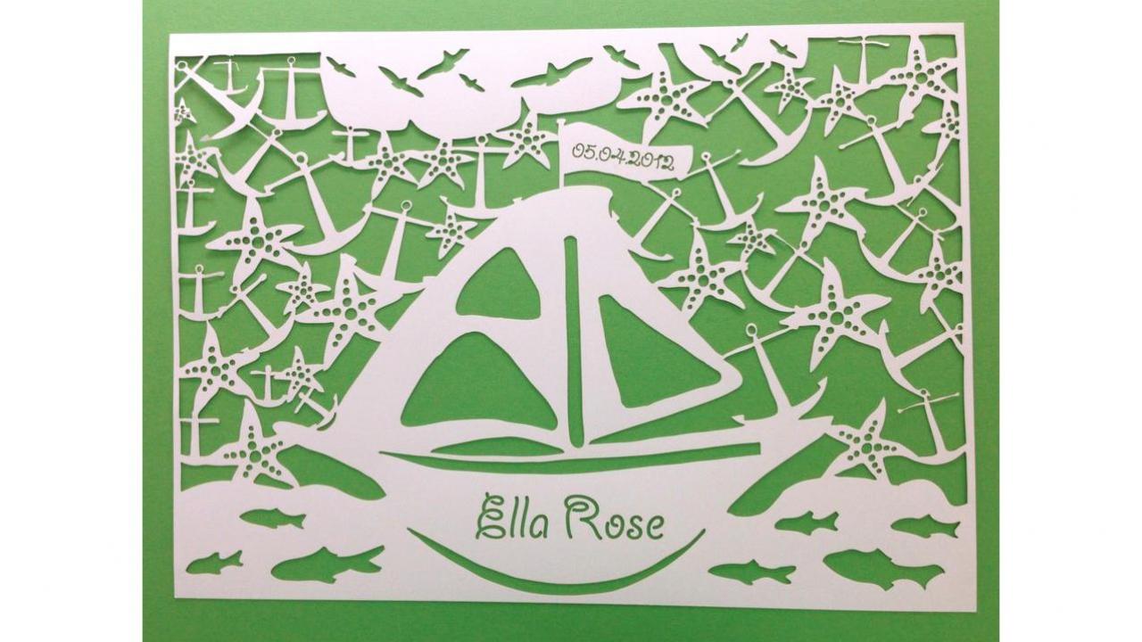 Tableau mural bateau - Tableau enfant personnalisable ...