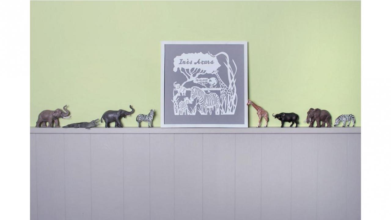 tableau mural safari. Black Bedroom Furniture Sets. Home Design Ideas