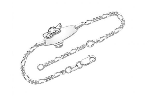 Kinderarmband Engel - mit Gravur - 925er Silber$