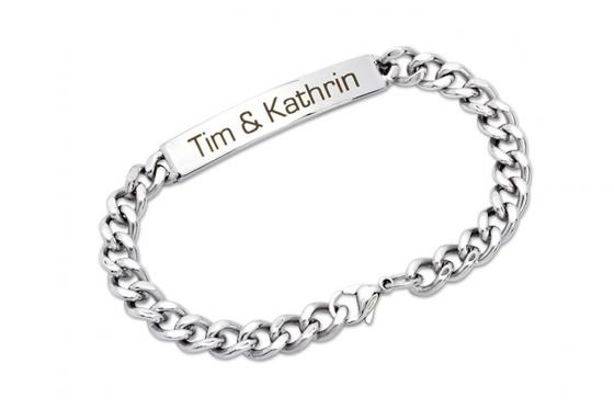 Bracelet en acier - avec gravure diamant