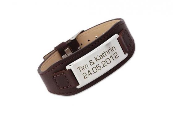 Bracelet en cuir - avec gravure laser