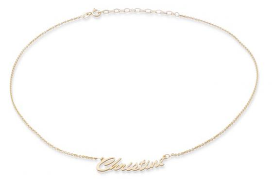 Collier en argent doré - avec nom en pendentif 1