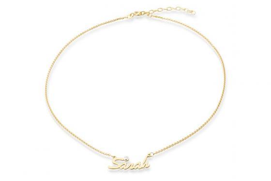 Namenskette 925er Silber vergoldet - Name frei wählbar 1