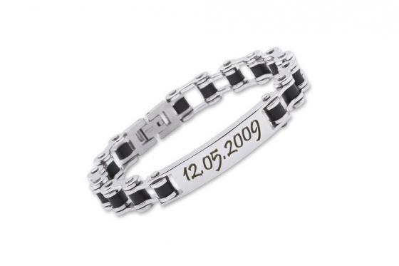 Edelstahl Armband - mit Gravur