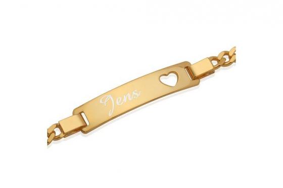 Vergoldetes 925er Silberarmband - mit Herz Motiv - Personalisierbar 1