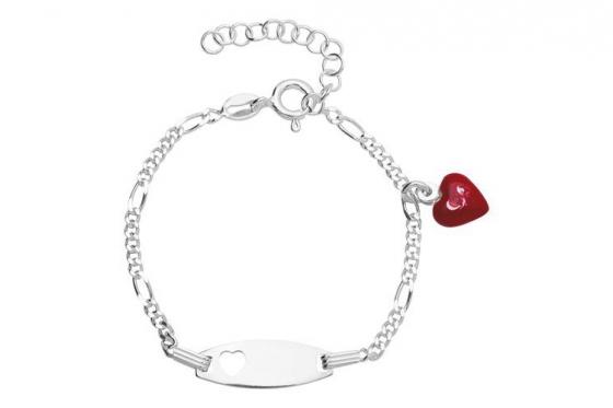 Kinderarmband Herz - Diamantgravur