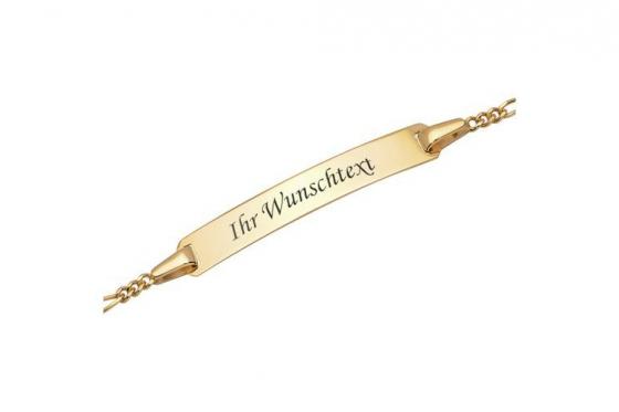 375er Gold Armband - mit Gravur 1