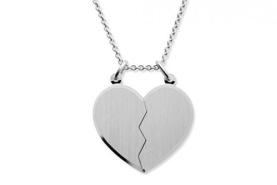 925er Paarkette Herz - Personalisierbar 1