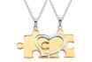 Paarkette Puzzle Gold aus Edelstahl - mit Gravur  [article_picture_small]