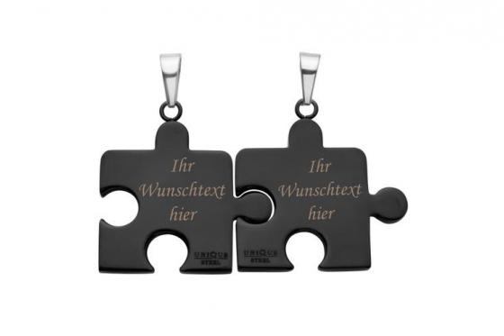 Paarkette Puzzle aus Edelstahl - mit Gravur 1