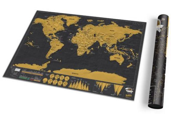 Weltkarte zum Rubbeln - Travel Map Deluxe