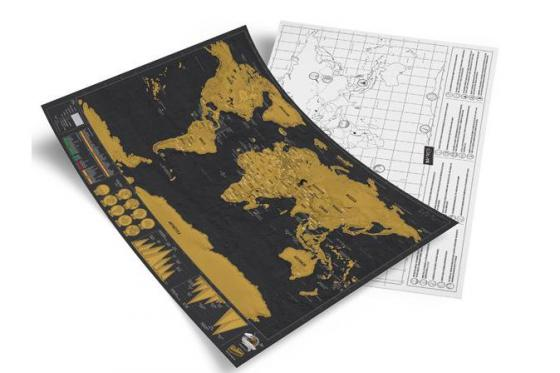 Weltkarte zum Rubbeln - Travel Map Deluxe 1