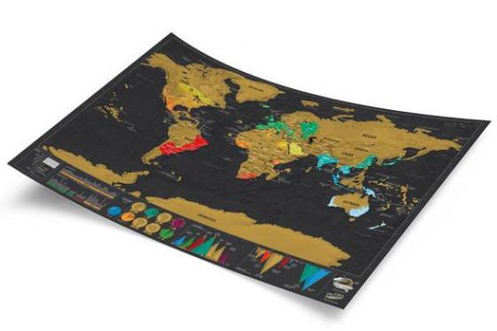 Weltkarte zum Rubbeln - Travel Map Deluxe 2
