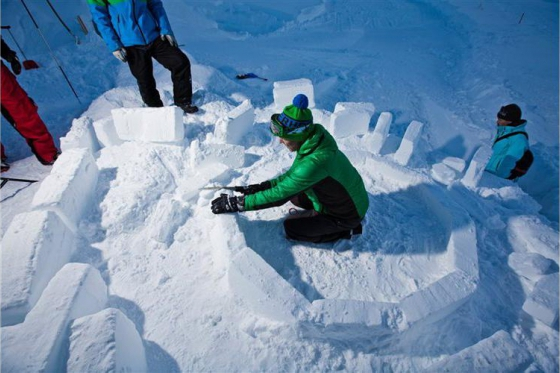 Iglu-Bau Schnupperstunde - 1h in Engelberg oder Gstaad  [article_picture_small]
