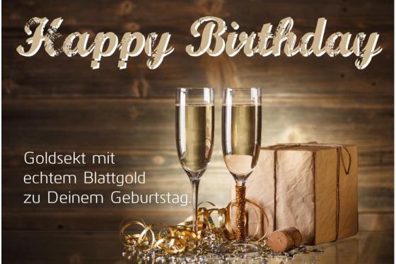 Happy Birthday - Goldsekt 2dl 1