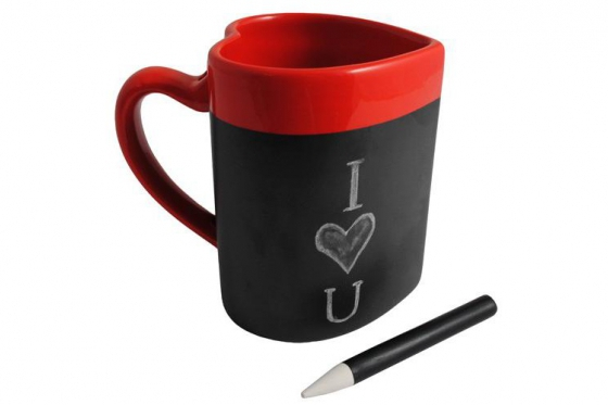 Message Tasse - in Herz Form