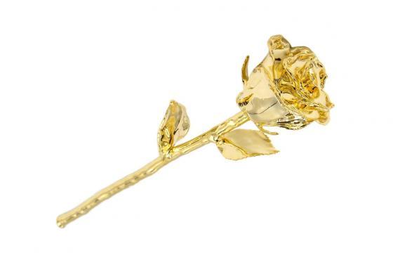Rose en or (28 cm) - Avec coffret en cuir