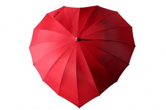 Herz Regenschirm - Personalisierbar