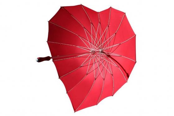 Herz Regenschirm - Personalisierbar 3