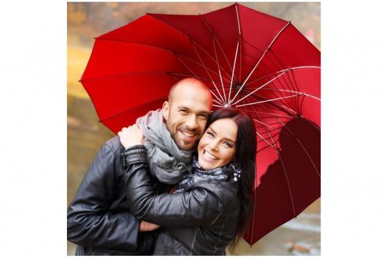 Herz Regenschirm - Personalisierbar 4