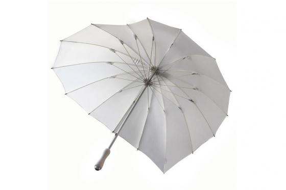 Herz Regenschirm Weiss - Personalisierbar 1