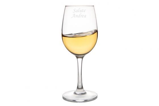 Weissweinglas - mit Gravur
