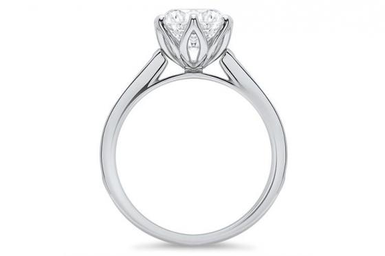925er Silberring Diana - mit Gravur 1