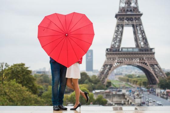 Regenschirm - Herzform