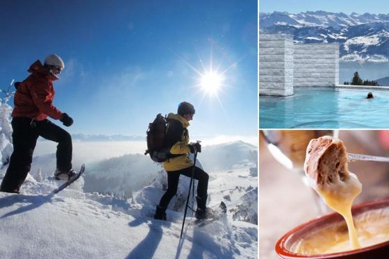 Wunderbarer Tag auf der Rigi - inkl. Schneeschuh-Tour, Fondue & Spa  [article_picture_small]