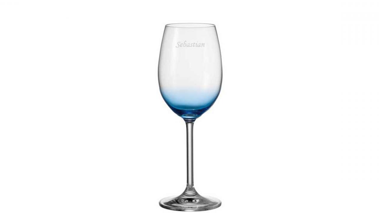 verre a vin bleu