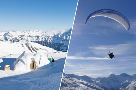 Iglu-Nacht & Gleitschirmfliegen - für 2 Personen in Davos  [article_picture_small]