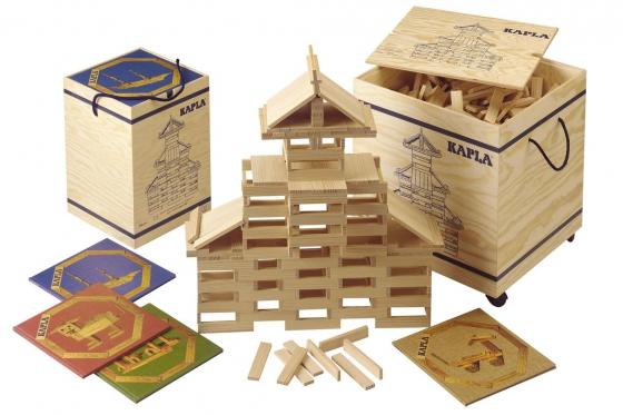 Kapla - 1000 Teile mit Holzkiste 2